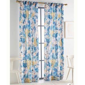 Anthropologie Helen Dealtry Velvet Lilac Curtain